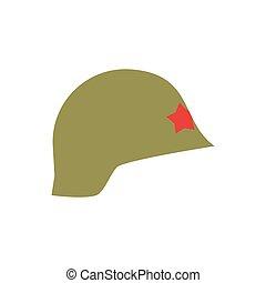 casco, esercito, isolated., vendemmia, berretto, fondo., protezione, retro, militare, soldati, cappello bianco