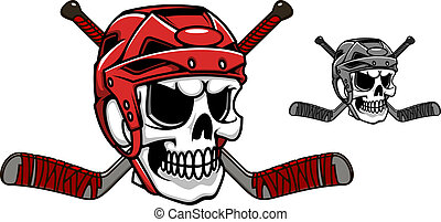 casco, hockey, ghiaccio, cranio