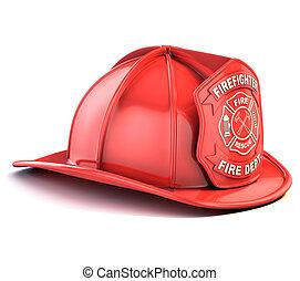 casco, pompiere