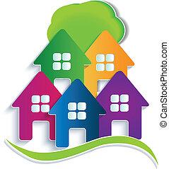 case, albero, logotipo