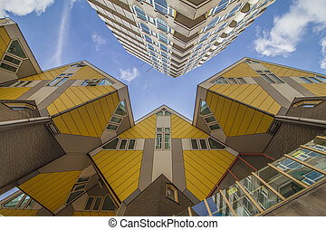 case, cubico, rotterdam, giallo