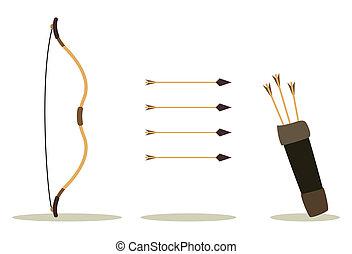 caso, arco, freccia