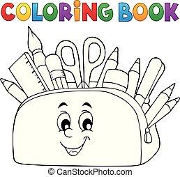 caso, matita, coloritura, tema, libro, 2