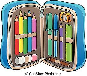 caso, matita, tema, 1, immagine