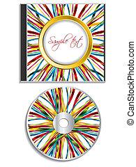 caso, nastro, multicolor, disegno, disco