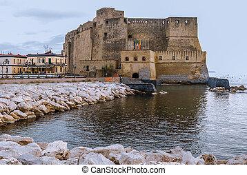 castel, dell'ovo, (egg, italia, castle), napoli