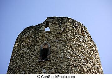 castello, cima, verna-park, rovine, torre
