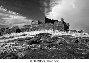 castello, medievale, infrarosso