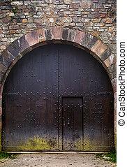 castello, storico, porta
