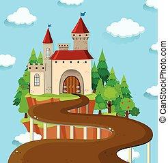 castello, strada