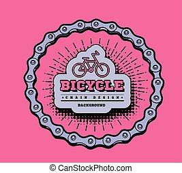 catena bicicletta, forma, disegno, circle., 3d