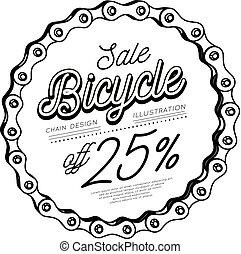 catena bicicletta, forma, vendita, scontare, 3d, circle., design.