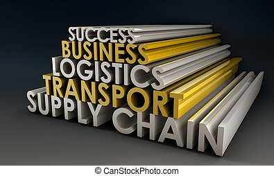 catena, logistica, affari, fornitura