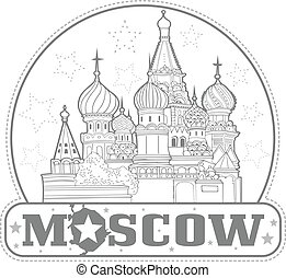 cattedrale, adesivo, basil's, mosca, santo