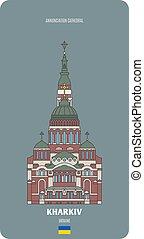 cattedrale, annunciazione, kharkiv, ukraine.