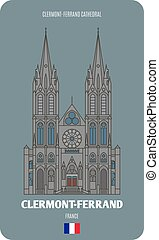 cattedrale, francia, clermont-ferrand