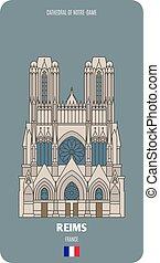 cattedrale, reims, francia, notre-dama