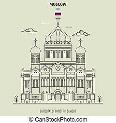 cattedrale, russia., punto di riferimento, salvatore, cristo, icona, mosca