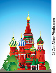 cattedrale, russia, st., basil's