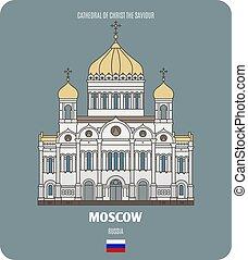 cattedrale, salvatore, mosca, cristo, russia