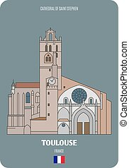 cattedrale, stephen, toulouse, francia, santo