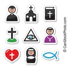 cattolico, chiesa, religione, icone