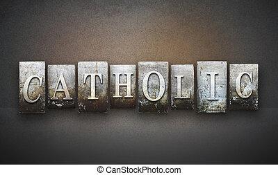 cattolico, letterpress