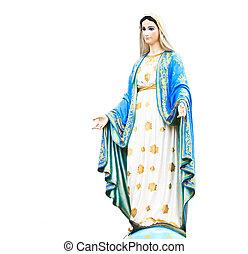 cattolico, vergine, romano, statua, chiesa, mary