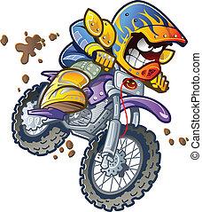 cavaliere bicicletta, sporcizia
