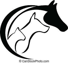 cavallo, cane, gatto