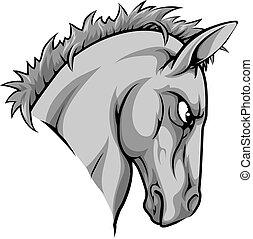 cavallo, carattere, mascotte