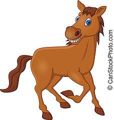 cavallo, cartone animato