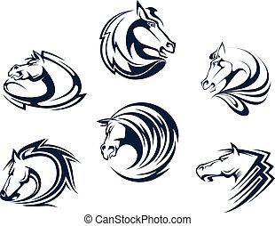 cavallo, emblemi, mascotti