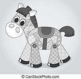 cavallo, giocattolo, vecchio