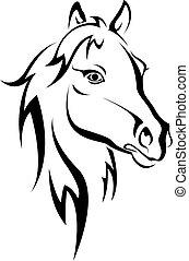 cavallo nero, silhouette