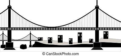 cavo sospensione, ponte