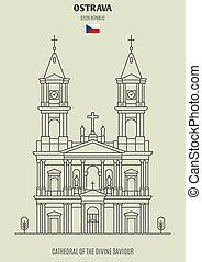 ceco, salvatore, republic., ostrava, punto di riferimento, cattedrale, divino, icona