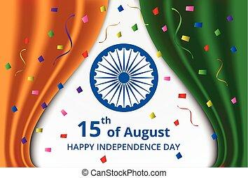 celeb, indiano, giorno, indipendenza, felice