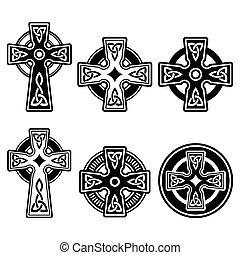celtico, irlandese, scozzese, croce