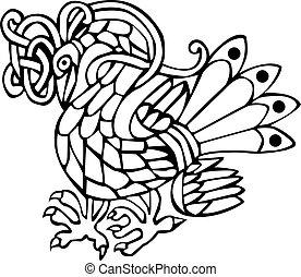 celtico, uccello