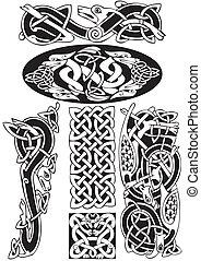celtico, vettore, art-collection.