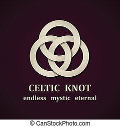 celtico, vettore, nodo, simbolo, carta, disegno, sagoma