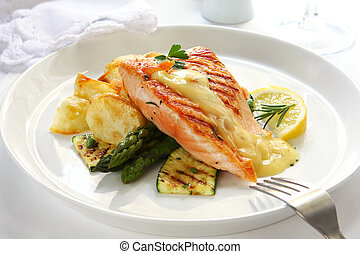 cena, salmone
