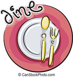 cenando, icona