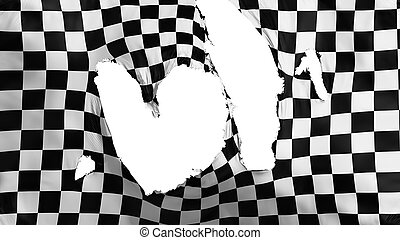 cencioso, bandiera, checkered