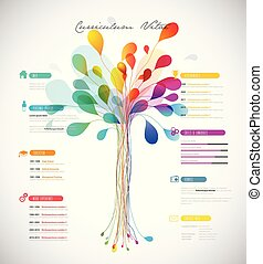 center., ricco, riprendere, colorare, astratto, albero, /, creativo, sagoma, cv