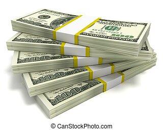 cento dollaro, accatastare, effetti