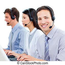 centro, lavorativo, chiamata, agenti, cliente, ambizioso, servizio
