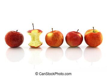 centro, mela intera, mele
