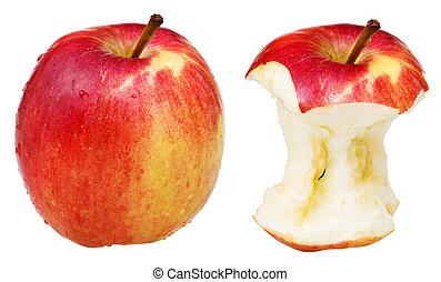 centro, mela intera, ricco